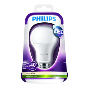 6 watt LED der erstatter en 40 watt glødepære.