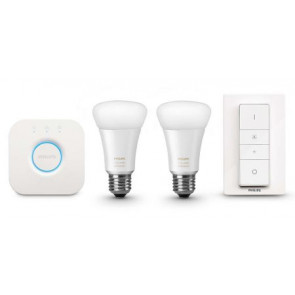 Philips HUE E27 White Ambiance Startpakke med 2.0 bridge