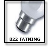 LED B22 FATNING