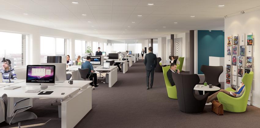 K b led loftsbelysning til kontorer her gratis beregning for Office design usa